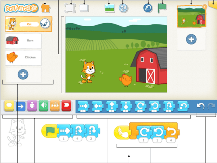 ScratchJR user interface